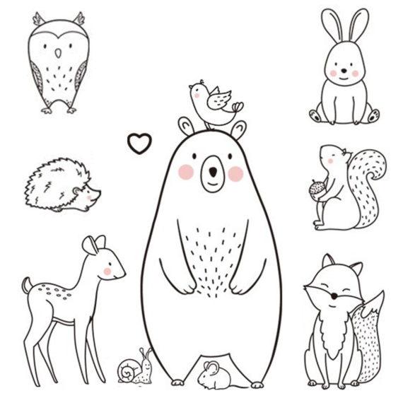 Bear & Animal Wall Sticker