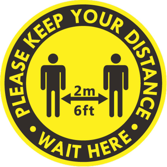 Keep Your Distance - COVID Sign