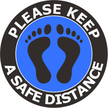 Keep Safe Distance - Social Distancing Signs for Business