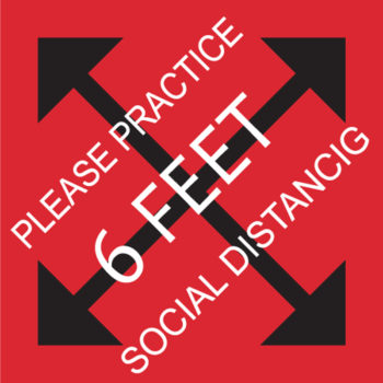 Practice Social Distancing Stickers
