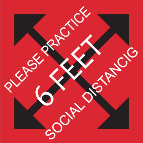 Practice Social Distancing Stickers